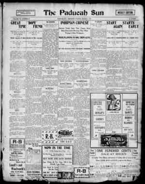Paducah Sun Gazetesi 7 Mart 1901 kapağı