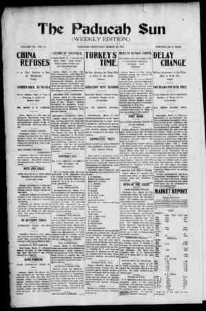 Paducah Sun Gazetesi 28 Mart 1901 kapağı