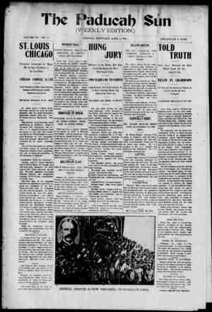 Paducah Sun Gazetesi 4 Nisan 1901 kapağı
