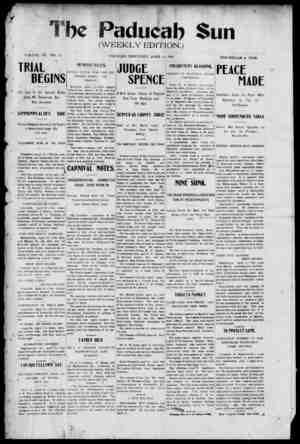 Paducah Sun Gazetesi 11 Nisan 1901 kapağı
