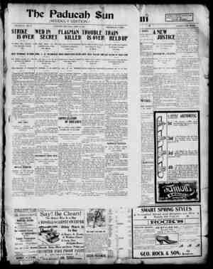 Paducah Sun Gazetesi 25 Nisan 1901 kapağı