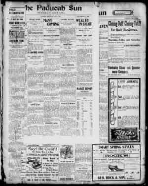 Paducah Sun Gazetesi 2 Mayıs 1901 kapağı