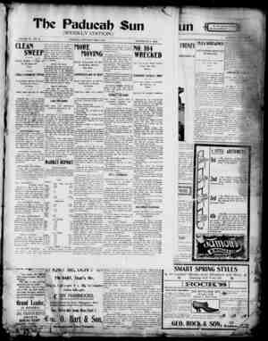 Paducah Sun Gazetesi 9 Mayıs 1901 kapağı