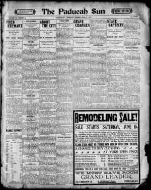 Paducah Sun Gazetesi 13 Haziran 1901 kapağı