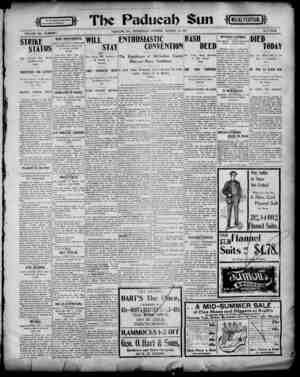 Paducah Sun Gazetesi 14 Ağustos 1901 kapağı
