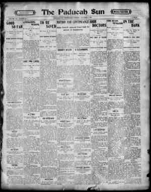 Paducah Sun Gazetesi 9 Ekim 1901 kapağı