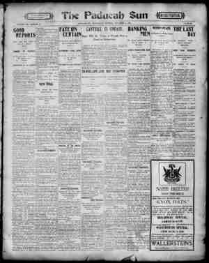 Paducah Sun Gazetesi 16 Ekim 1901 kapağı