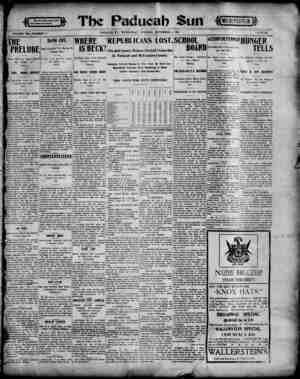 Paducah Sun Gazetesi 6 Kasım 1901 kapağı