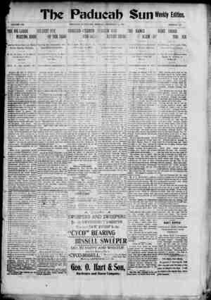 Paducah Sun Gazetesi 16 Aralık 1901 kapağı
