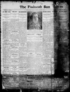 Paducah Sun Gazetesi 1 Ocak 1902 kapağı
