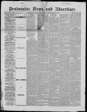 Peninsular News Gazetesi 27 Eylül 1872 kapağı