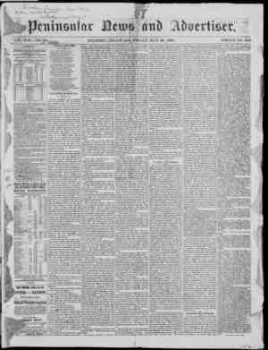 Peninsular News Gazetesi 26 Mayıs 1876 kapağı