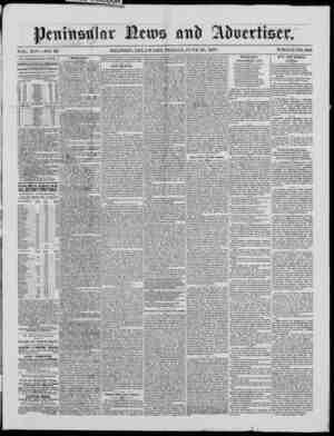 Peninsular News Gazetesi 29 Haziran 1877 kapağı