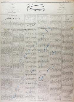 Peyam Gazetesi 30 Kasım 1913 kapağı
