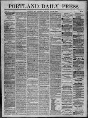 Portland Daily Press Gazetesi 25 Haziran 1862 kapağı