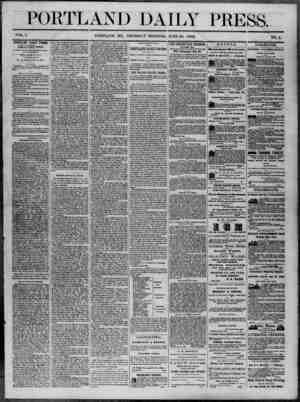 Portland Daily Press Gazetesi 26 Haziran 1862 kapağı