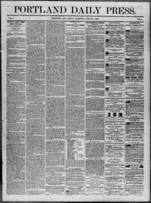 Portland Daily Press Gazetesi 27 Haziran 1862 kapağı