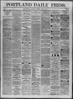 Portland Daily Press Gazetesi 28 Haziran 1862 kapağı