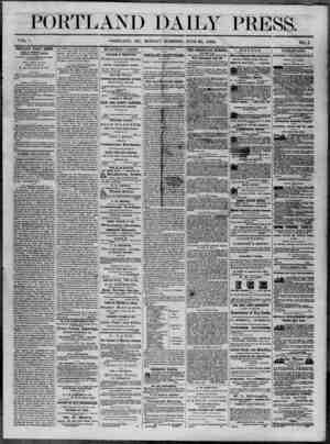 Portland Daily Press Gazetesi 30 Haziran 1862 kapağı