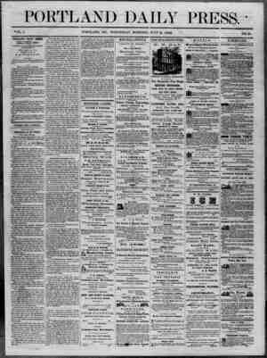 Portland Daily Press Gazetesi 2 Temmuz 1862 kapağı