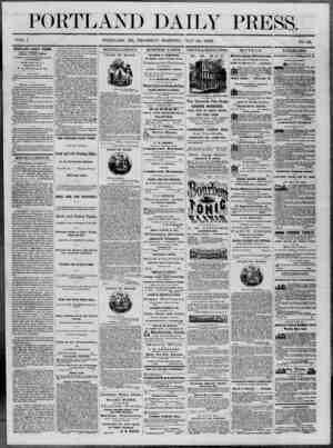 Portland Daily Press Gazetesi 10 Temmuz 1862 kapağı