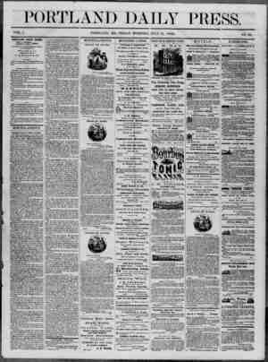 Portland Daily Press Gazetesi 11 Temmuz 1862 kapağı