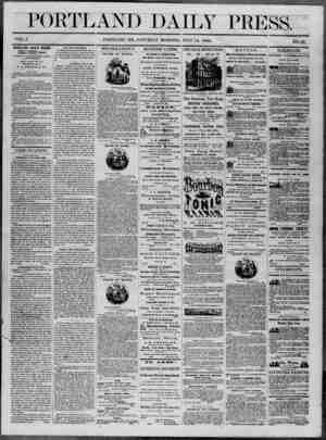 Portland Daily Press Gazetesi 12 Temmuz 1862 kapağı