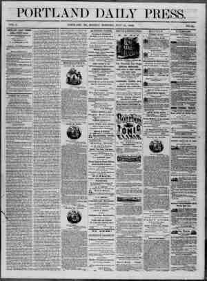 Portland Daily Press Gazetesi 14 Temmuz 1862 kapağı