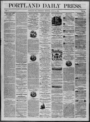 Portland Daily Press Gazetesi 16 Temmuz 1862 kapağı