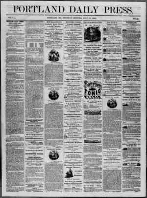Portland Daily Press Gazetesi 17 Temmuz 1862 kapağı