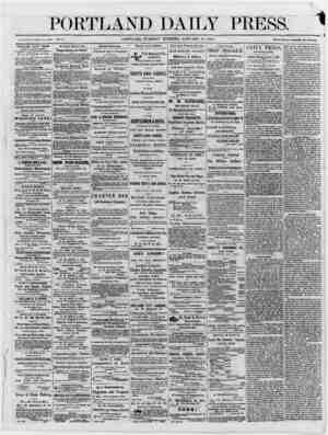 "PORTLAND DAILY PRESS 1 > : , -u ' .. ■ . ' ■■ - 1_. "" - ' — Established June 23, 1862. Vol. 5. PORTLAND, TUESDAY MORNING,..."