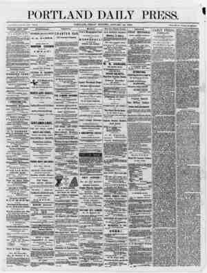 DAILY PRESS. JHntabllahed June 26, 1862. Vol. 5. PORTLAND, FRIDAY MORNING, JANUARY 12, 1866. —— Terms $H per annu)U} in...