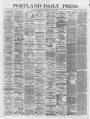 r 11 ' JJL X _________________________________________ It vc;flushed June 28, 1862. Voi. s. ' PORTLAND, THURSDAY MORNING,...