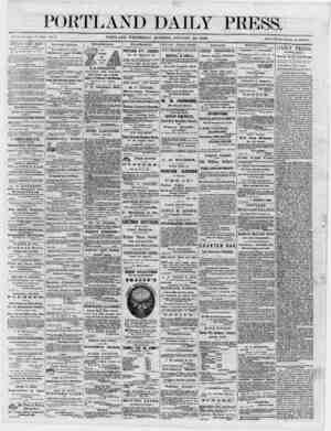 "PORTLAND DAILY PRESS. juuc *1, isos, iw.■;._ _PORTLAND, WEDNESDAY MORNING, JANUARY 24, 1800. p"" annuM, lu PORTLAND DAILY..."