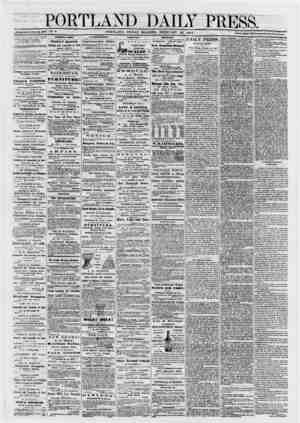 Portland Daily Press sayfa 1