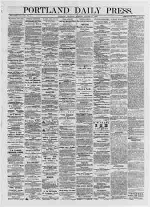 PORTLAND DAILY PRESS. ESTABLISHED JUNE 23, 1862. VOL. 11. PORTLAND THURSDAY MORN TNG, OCTOBER 31, 1872 TERMS 18.00 PER ANNUM