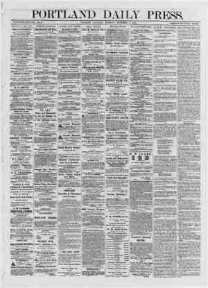 PORTLAND DAILY PRESS. ESTABLISHED JUNE 23, 1862. VOL.11. PORTLAND SATURDAY MORNFNG NOVEMRFU » 1R7<> rvnj.jxnn.Lr σΛΐυίΐυΛ1 11