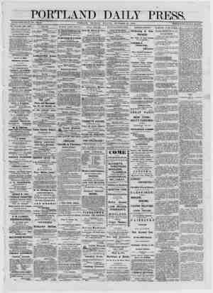 PORTLAND ——■■III·! ESTABLISHED JUNE 23, 1862. VOL. 11. PORTLAND, THURSDAY DAILY PRESS. MOKNTNG, NOVEMBER 21, 1872. TERMS...