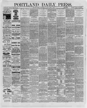 PORTLAND DAILY PR SS. _ ESTABLISHED JUNE 23, 1862-VOL. 28. PORTLAND. MAINE, WEDNESDAY MORNING, APRIL 2. 1890.__PRICE 86 A...