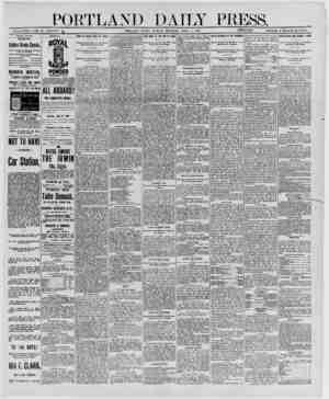 PORTLAND DAILY P t SS. ESTABLISHED JUNE 23, 1862-YOL. 2^ PORTLAND. MAINE, MONDAY MORNING, APRIL 7, 1890._loMM^tVlSSS} PRICE