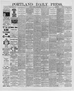 PORTLAND DAILY PRESS. ESTABLISHED JPNE 23, 1862-VQL 28._ PORTLAND, MAINE, MONDAY MORNING. APRIL 14, 1890. [SS?SL££g£:\ PRICE