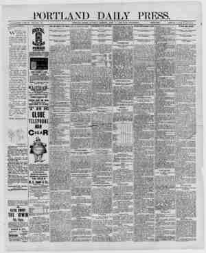 PORTLAND DAILY PRESS. ESTABLISHED .11 NE 23, 1862-VOL. 28. PORTLAND, MAINE, SATURDAY MORNING. APRIL 19, 1890-WITH SUPPLEMENT.