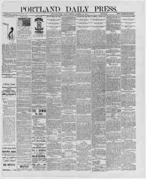 PORTLAND DAILY PTtESH ESTABLISHED JUNE 23, 1862 VOL. 29. PORTLAND, MAINE, FRIDAY MORNING. DECEMBER 12, 1890. {clI^mail^ttbb.}