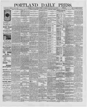 PORTLAND DAILY PRESS. ESTABLISHED ,11 NE 23, )S62 -VOL, 29._PORTLAND, MAINE, SATURDAY MQRNINO. DECEMBER >3, 1890-WITH...