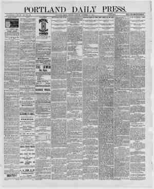 DAT!jY PRESS. ESTABLISHED JDNE 23, IS62- VOL. 29. PORTLAND, MAINE, MONDAY MORNING. DECEMBER 15, 1890. _ PKIOE M A YEAR, WHfiA
