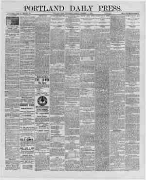 PORTLAND DAILY PIOS. ESTABLISHED ,11 NE 23, 1862-VOL. 29. PORT LAND, MAINE. WEDNESDAY MORNING. DECEMBER 17, 1890. _PRICK M A