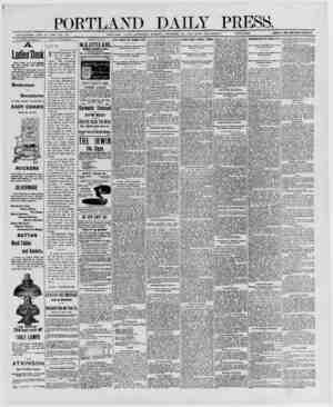 PORTLAND ESTABLISHED JUNE 23, 1802- VOL 29 PORTLAND, MAINE SATURDAY MORNING DECEMBER 20, 1890-VViTH SUPPLEMENT....
