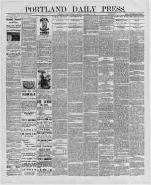 PORTLAND DAILY P ESS. ESTABLISHED .ICNE 23, 1862-VOL 29 PORTLAND, MAINE, TUESDAY MORNING DECEMBER 23, 1890.__PRICK M \ YEAR,