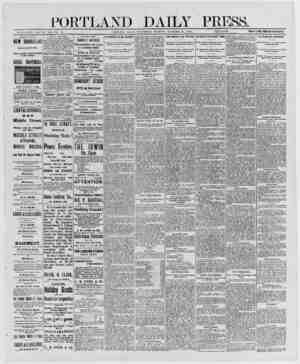 PORTLAND DAILY P LESS. ESTABLISHED JUNE 23. 1862- VOL 29 PORTLAND, MAINE. WEDNESDAY MORNING. DECEMBER 24, 1890....
