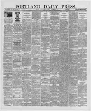 PORTLAND DAILY ESTABLISHED .ICNE 23, 1862-VOL 29. PORTLAND MAINE MONDAY MORNING. DECEMBER 29, 1890. |£S?Eif.SK} PRICE 17 k